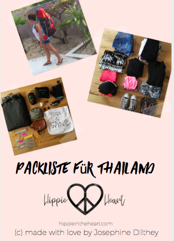 Cover Packliste für Thailand - 2017 von Hippie in the Heart