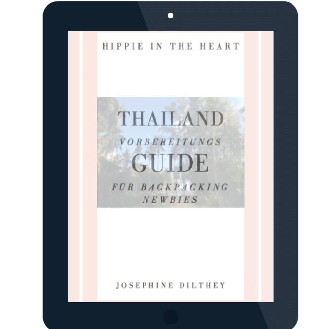 Vorbereitungsguide Thailand auf Tablet 667x667 - Mini Ebook // Thailand Vorbereitungsguide für Backpacking Newbies